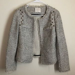 Anthropologie Line & Dot Metallic Studded Jacket